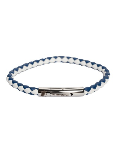 TSG Leather bracelet blue/white 21